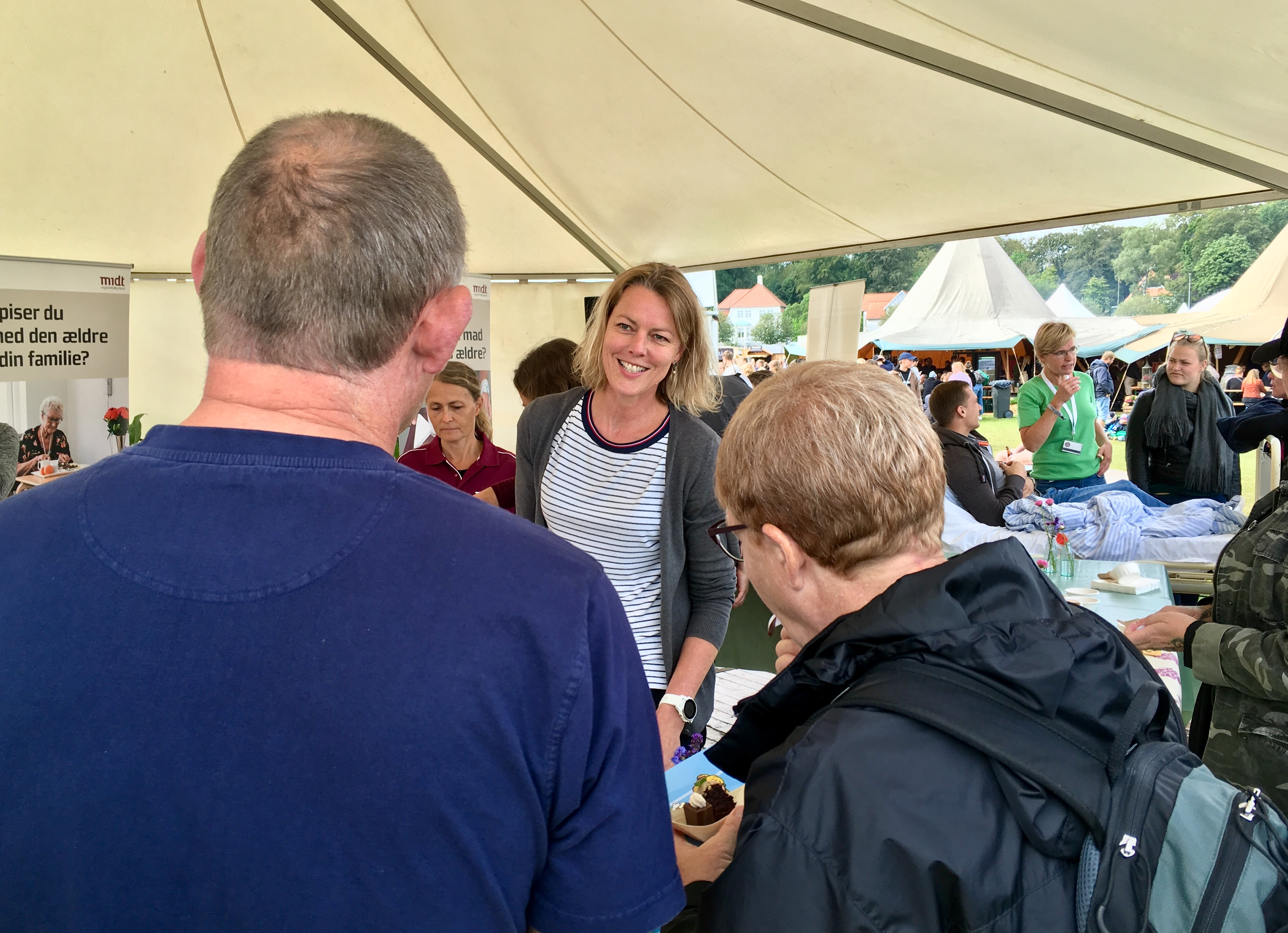 """Photo from a """"sustainability and healt tent"""" at Food Festival 2019 in Aarhus, DK."""